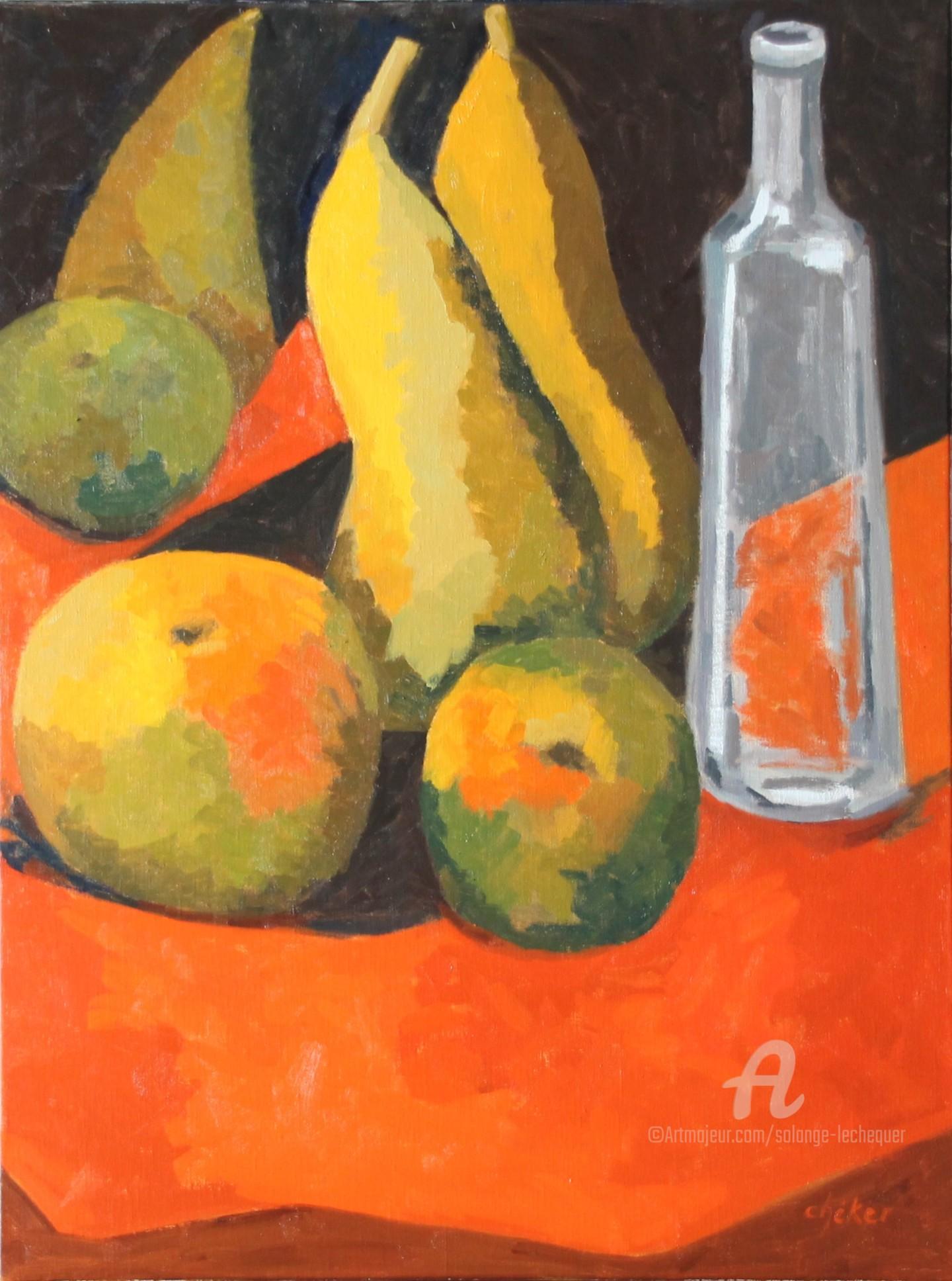 CHéKER - Fruits et bouteille Limoncino