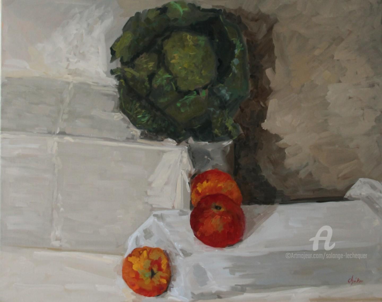 Chéker - Nature Morte aux Trois Pommes Rouges