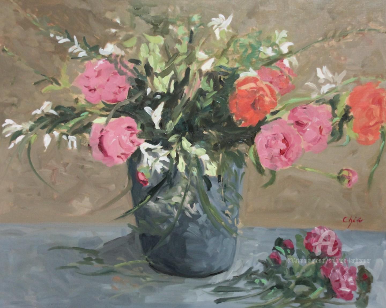 Chéker - Bouquet de Pivoines