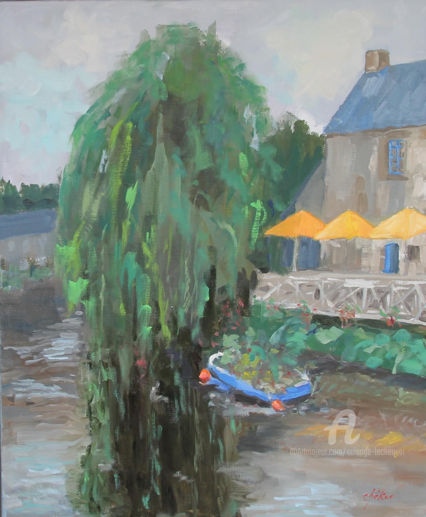 Chéker - Reflets sur le Trieux à Pontrieux