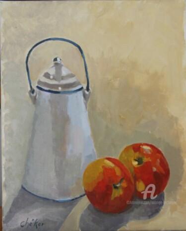Pot à lait et pommes