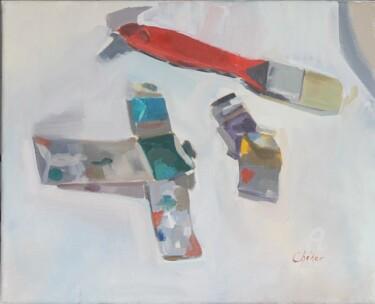Pinceau et tubes de peinture