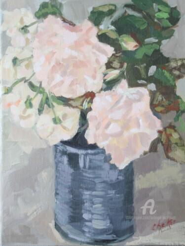 Roses Gruss an Aachen et Ghislaine de Féligonde