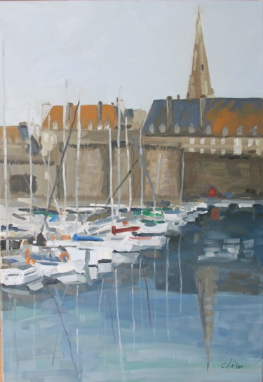 Saint Malo,bassins,remparts,flêche cathédrale St Vincent